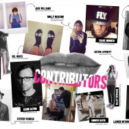 Contributors page for WallFlower Zine 6 JUNE 2013