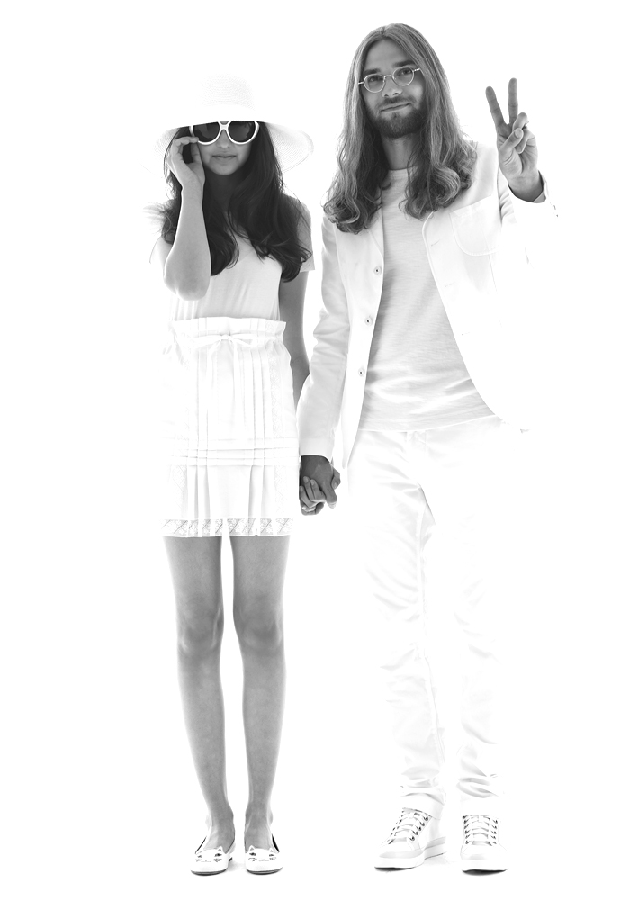 Sisterbrother Team Pairs Up To Recreate Clic Celebrity Wedding Photos Yoko John