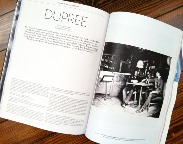 Dupree Austin band in Flaunt Magazine photo by Steven Visneau