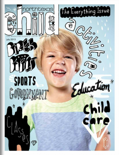 Illustrated kids magazine cover
