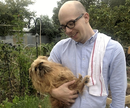 Adam with dog