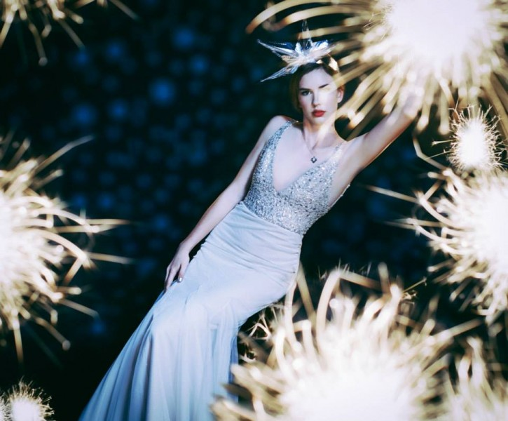 Sparklers and Wedding Dress aglow